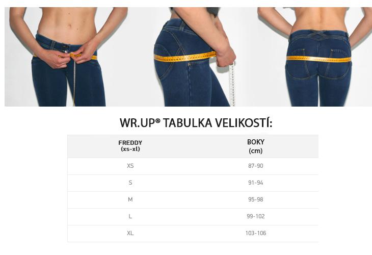 freddy jeans kalhoty tabulka velikosti
