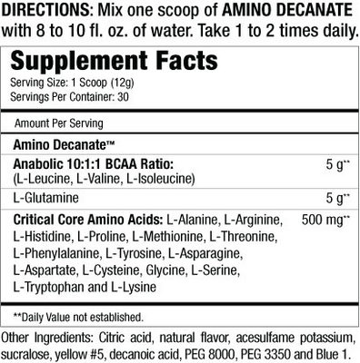 musclemeds-AminoDecanate slozeni