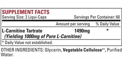 nutrex-carnitine-slozeni