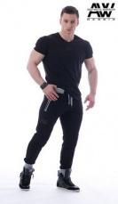 Nebbia Pánské Tepláky Aesthetic warrior 108 černé