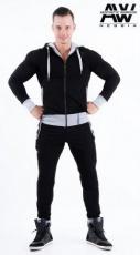 Nebbia Aesthetic Warrior mikina se zipem a kapucí 107 černá