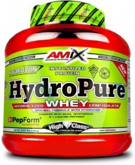 Amix HydroPure Hydrolyzed Whey CFM Protein 1600 g - Peanut butter cookies + Glutamine a BCAA 300g ZDARMA