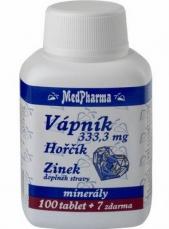 MedPharma Vápník 333,3mg + hořčík + zinek 107 tablet
