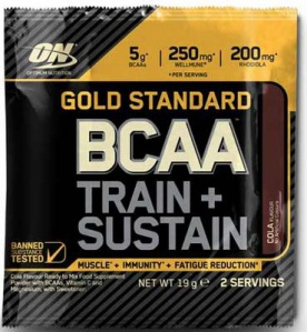 Optimum Nutrition gold standard BCAA TRAIN & SUSTAIN 19 g (2 dávky)