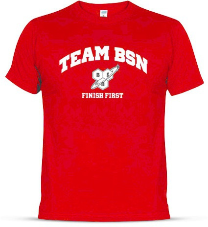 54d7a47e8a63 Momentálně nedostupné BSN Team T-Shirt Red-Finish First