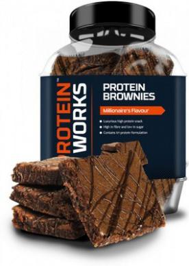 TPW Protein Brownies 22x40 g - čokoláda/lískový oříšek