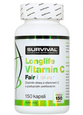 Survival Longlife Vitamin C Fair Power 150 kapslí