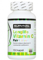 Survival Longlife Vitamin C Fair Power 150 kapslí