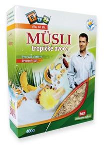 REJ Müsli s tropickým ovocem 400 g