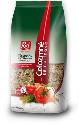 REJ Celozrnné semolinové těstoviny Vřetena 400 g