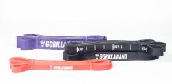 GORILLA Power Band - posilovací guma Set č.1 (odpor 53kg) - červenou, černá, fialová