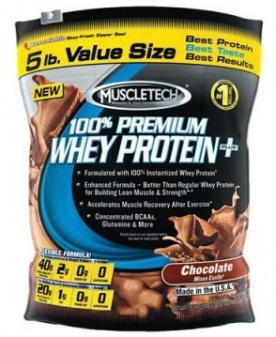 Muscletech 100 % Premium Whey Protein Plus 2270 g - vanilka VÝPRODEJ (POŠK.OBAL)