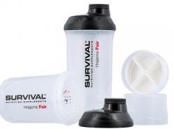 Survival Šejkr transparentní se zásobníky 600 ml + 200 ml + 150 ml