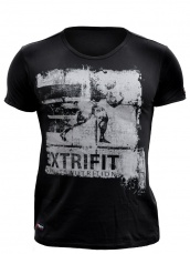 Extrifit Tričko černé LOGO šedé