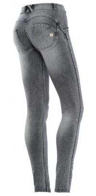 Freddy WR.UP® Jeans Šedé - Opraný Efekt