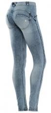 Freddy WR.UP® Jeans Světle Modré - Opraný Efekt
