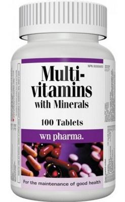 Webber Naturals Multi Vitamin s minerály 100 tablet PROŠLÉ DMT