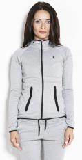 Kevin Levrone Hoodie Jacket 01 LW Melange šedá