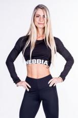 Nebbia Crop Top 269 černý