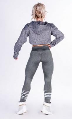 Nebbia Crop Top s kapucí 276 šedá