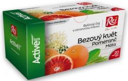 REJ Čaj ACTIVE bylinný čaj s citronovou trávou 20 x 1,5 g