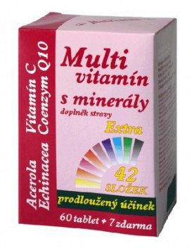 MedPharma Multivitamin s minerály 42 složek 67 tablet
