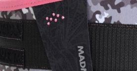 MAD MAX Dámský fitness opasek WMN - SWAROVSKI MFB314 růžová