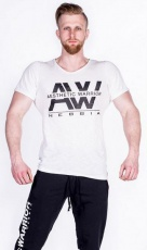 Nebbia Aesthetic Warrior tričko 127 cream VÝPRODEJ
