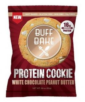Buff Bake Protein Cookie 80 g - bílá čokoláda/arašídové máslo VÝPRODEJ