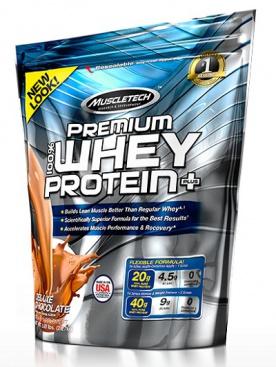 Muscletech 100 % Premium Whey Protein Plus sáček 2270 g - čokoláda VÝPRODEJ (POŠK.OBAL)