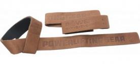 Power System Posilovací kožené trhačky Leather Lifting Straps
