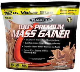 MuscleTech 100 % Premium Mass Gainer 5440g - čokoláda VÝPRODEJ (POŠK.OBAL)
