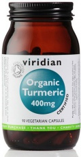 Viridian Turmeric (Kurkuma) 400mg Organic 90 kapslí