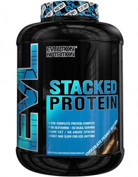 EVLution Nutrition Stacked Protein 1800g - čokoláda/arašídové máslo PROŠLÉ DMT