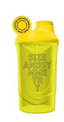 SizeAndSymmetry Šejkr 600ml - žlutý