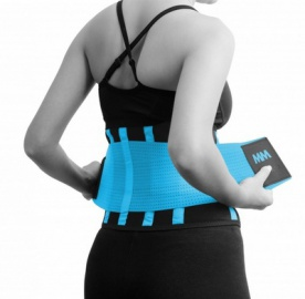 MAD MAX Slimming Belt MFA277 tyrkysově modrá