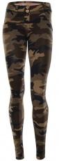 Freddy WR.UP® Kalhoty máskáčové hnědé
