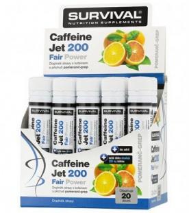 Survival Caffeine Jet 200 Fair Power® 20 x 25ml PROŠLÉ DMT
