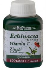 MedPharma Echinacea 100mg + vitamin C + zinek 107 tablet