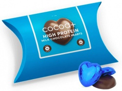 COCOA+ Protein milk chocolate hearts 56g
