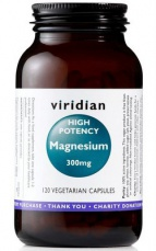 Viridian High potency Magnesium 300mg 120 kapslí