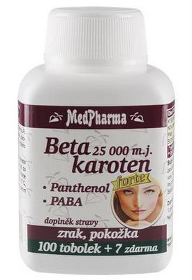 MedPharma Beta karoten 25 000 m.j. + Panthenol + PABA 107 kapslí