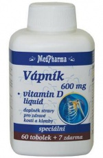 MedPharma Vápník 600 mg + Vitamín D 67 kapslí