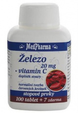 MedPharma Železo 20 mg + Vitamin C 107 tablet