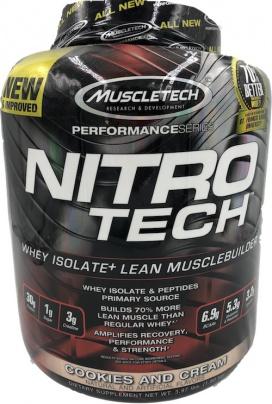 MuscleTech Nitro-Tech 1800 g - cookies & cream VÝPRODEJ (POŠK.OBAL)