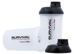 Survival Šejkr transparentní 600 ml - bílo/černý