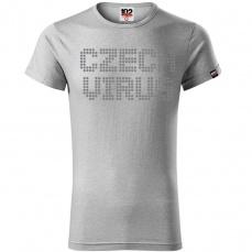 Czech Virus Dotted Pánské triko světle šedé
