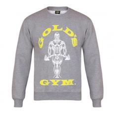 Gold's Gym pánská mikina bez kapuce šedá