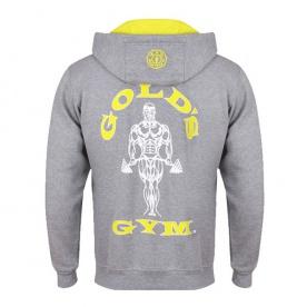 Gold's Gym pánská mikina na zip šedá