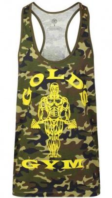 Gold's Gym pánské tílko zelenočerný maskáč